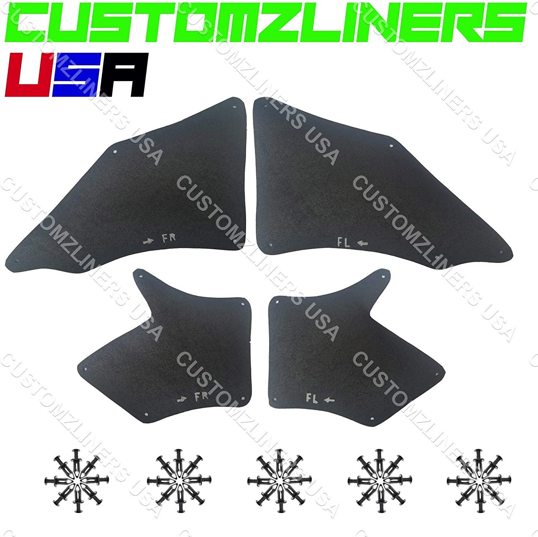 Customzliners USA Fender Liner Direct Fit for 2005-2019 Toyota Tacoma 2WD 4WD V6 Apron Fender Liner Splash Guard Seals Flaps