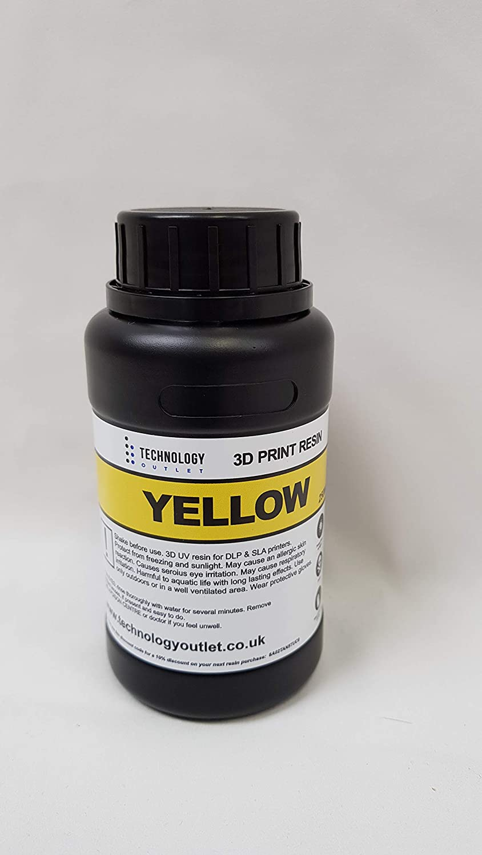 1 TECHNOLOGY OUTLET Resina para impresora 3D pr/émium Negro 1 litro.