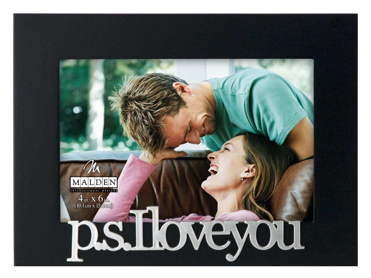 Malden International Designs Expressions P.S. I Love You Picture Frame, 4x6, Black