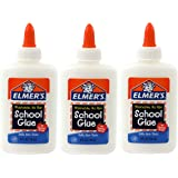 Elmer's Washable No-Run School Glue, 4 oz, 3 Pack