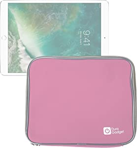 DURAGADGET Slim Pink Neoprene Sleeve Case for The New Apple iPad Air Wi-Fi/Wi-Fi + Cellular Space Grey Silver 16Gb 32Gb 64Gb 128GB (November 2013 Release), with Dual Zips