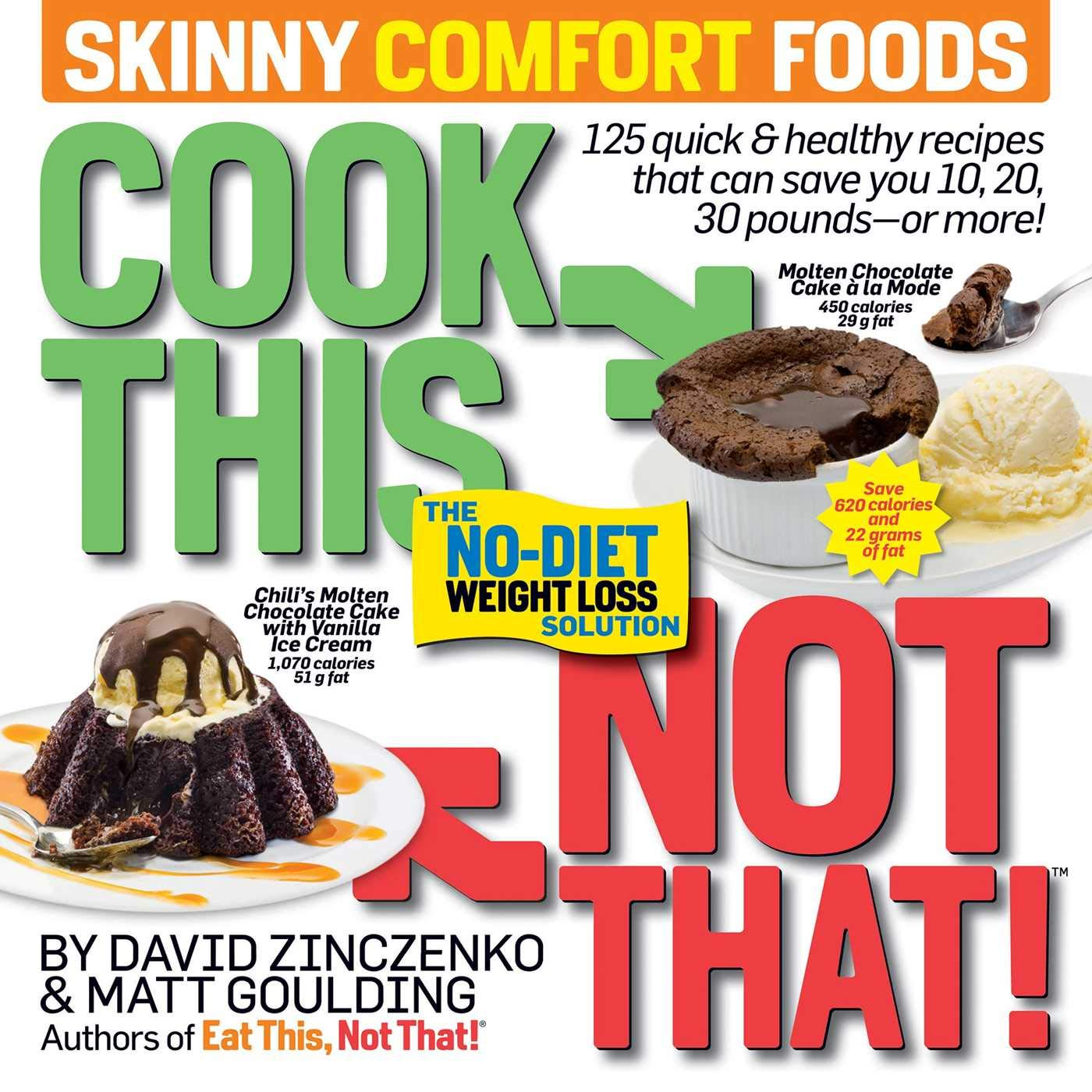 Cook This, Not That! Skinny Comfort Foods: 125 short & wholesome foods that may prevent 10, 20, 30 kilos or extra.