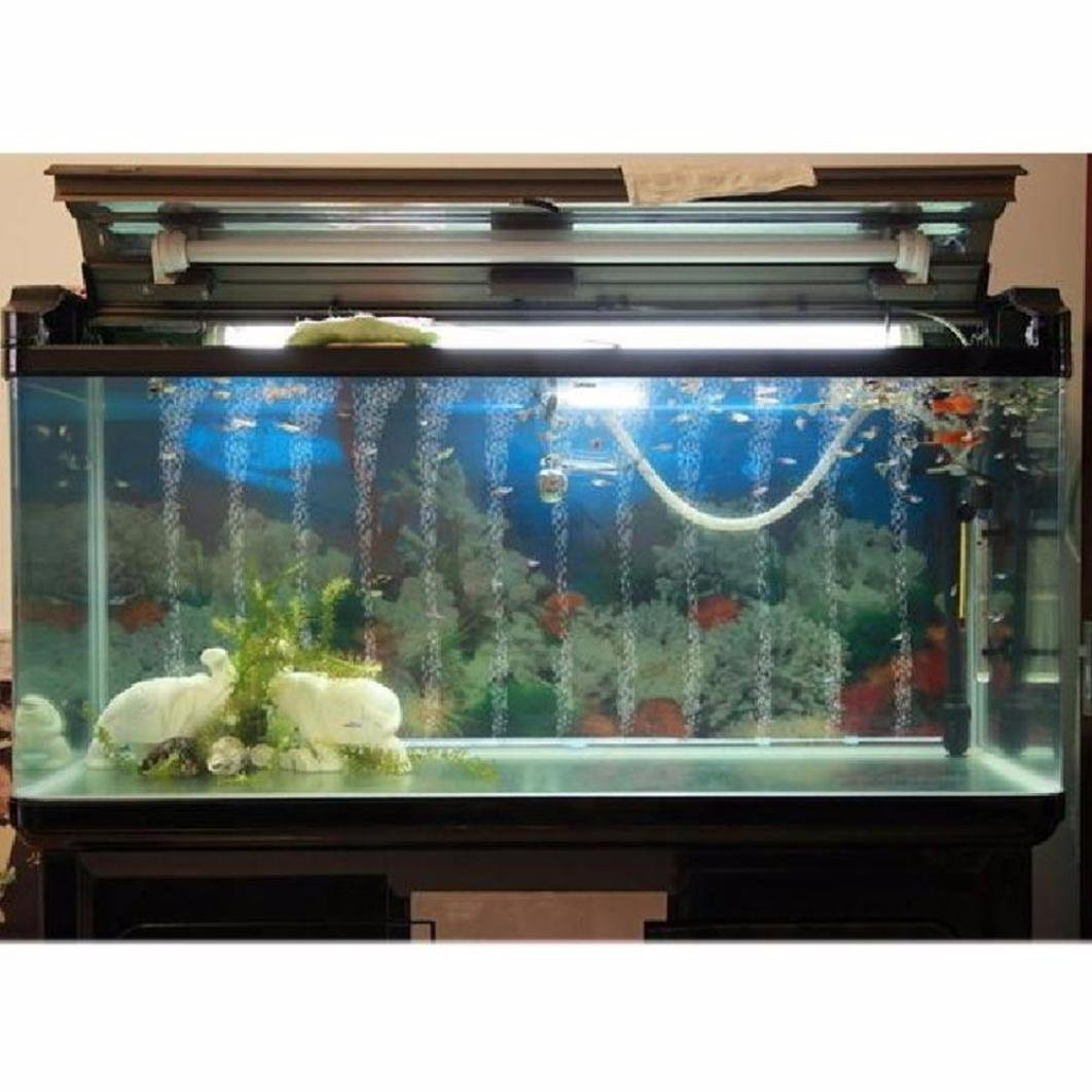 Geetobby - Bomba de aire para acuario con bomba de oxígeno para acuario, decoraciones para peceras, tanque de oxígeno con tubo de aire de silicona, ...