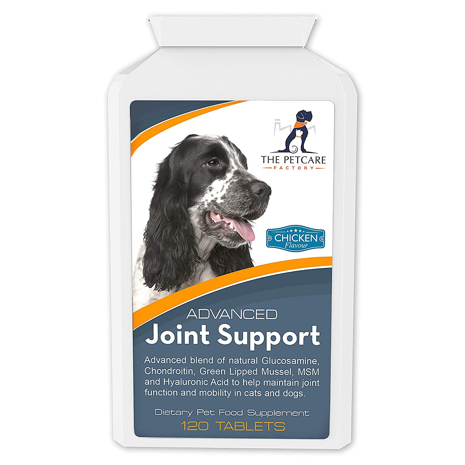 Advanced Joint Support Supplement For Dogs, With Powerful Glucosamine, Chondroitin, Green Lipped Mussel, MSM, Curcumin & Hyaluronic Acid, Human Grade Ingredients, 120 Tablets, UK Manufactured