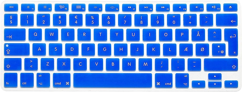 Denmark Keyboard Cover forMacbook Pro13 Retina 15 Air13.3 EU Enter A1466 A1502 A1398 A1278A1286 Keyboard Cover Protective Film,White