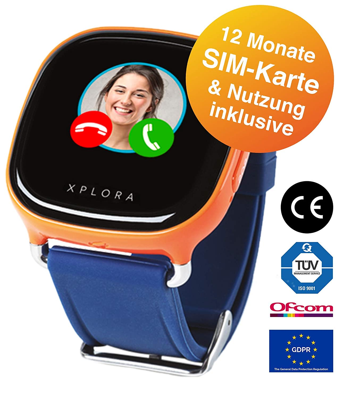 Xplora Teléfono Reloj para niños, Incluye 12 Meses Telefonía ...