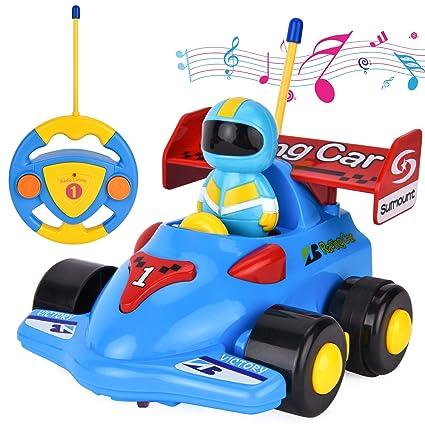 Amazon Com Filwo Rc Cartoon Car Remote Control Car With Light