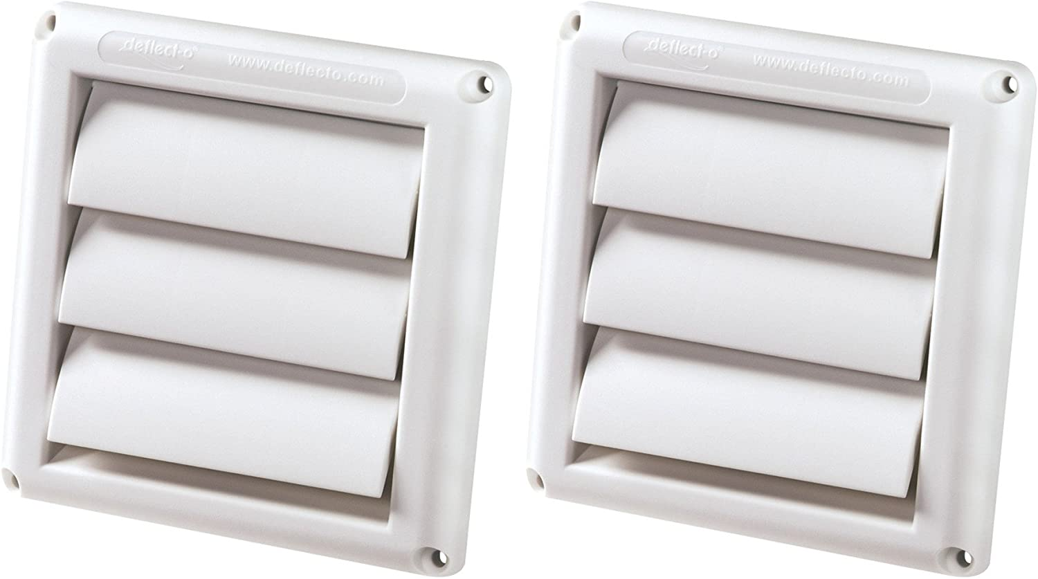2-PACK of DEFLECTO HS4W/18 Supurr-vent Replacement Vent Hood (4Inch) - White 71zHHwMyRzL