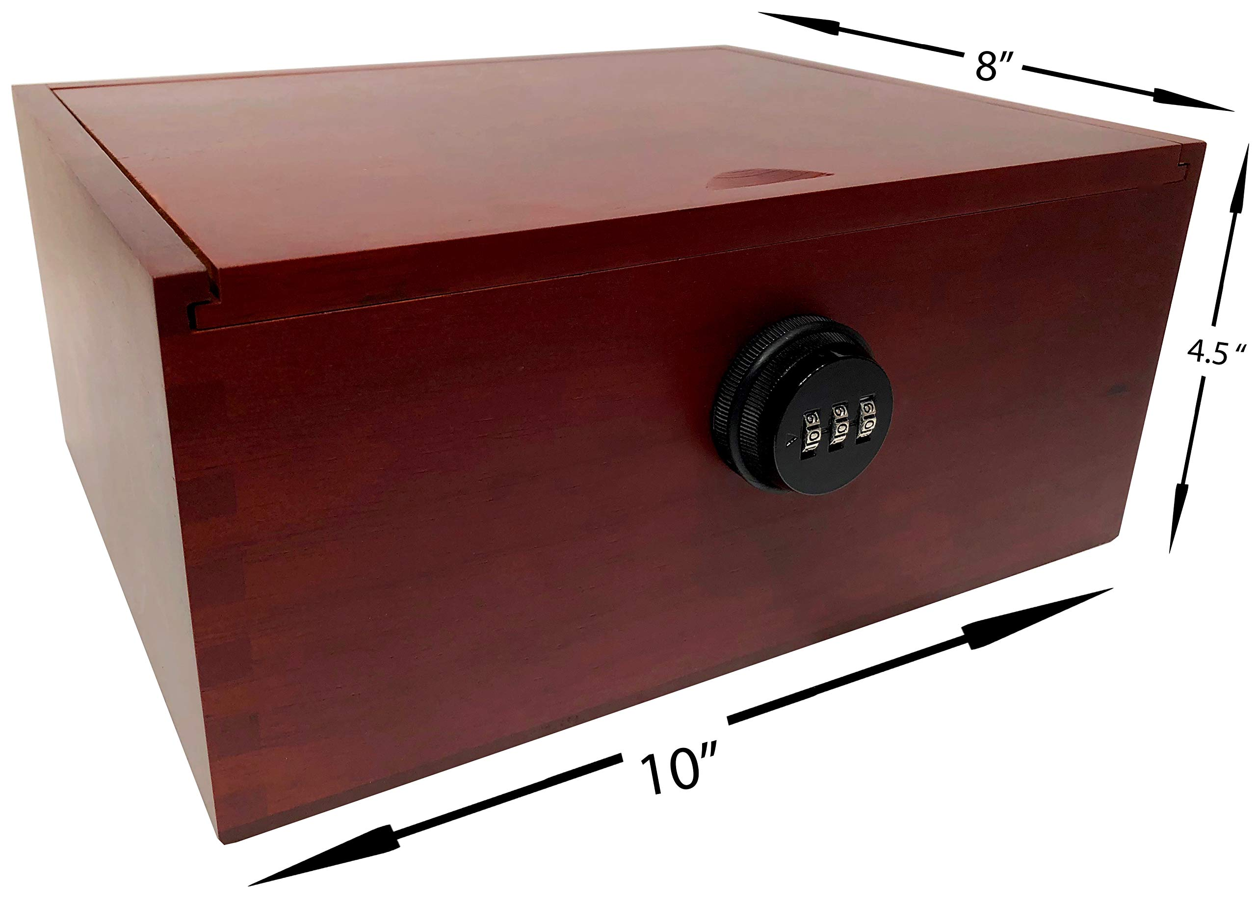 Locking Stash Box with Rolling Tray - Luxury Stash Box with Lock - Large Safe Box with Rolling Trays Stash Boxes (Box with Extra Tray) by SwagGear (Image #7)