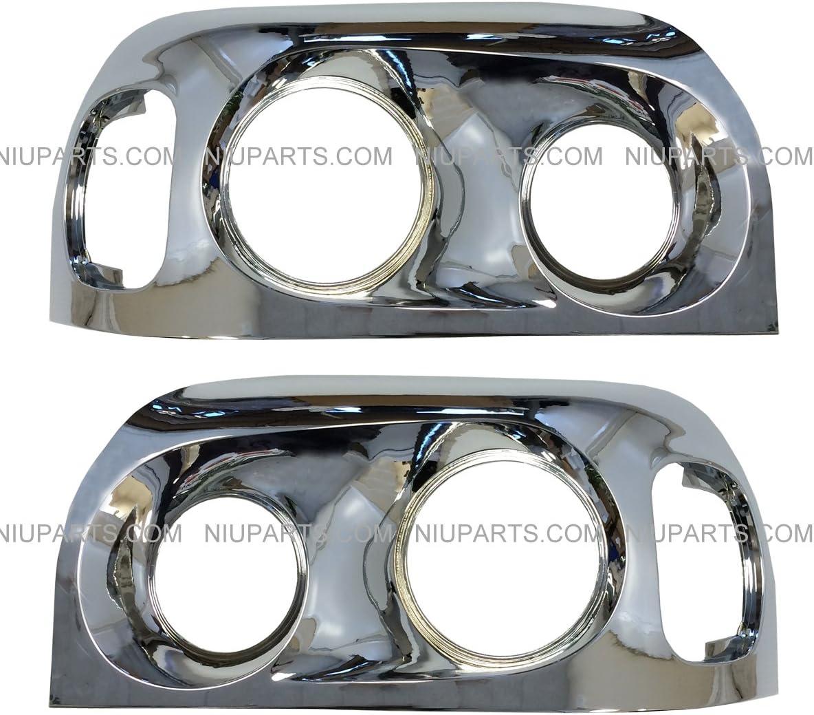 Freightliner Century Headlight Bezel Chrome Driver /& Passenger Side