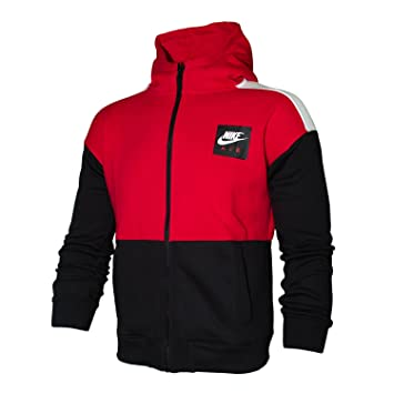 size 40 8457c d24ef Nike Boys Air Hoodie - Kinder Hoodie - 892457-657 rotschwarzweiß