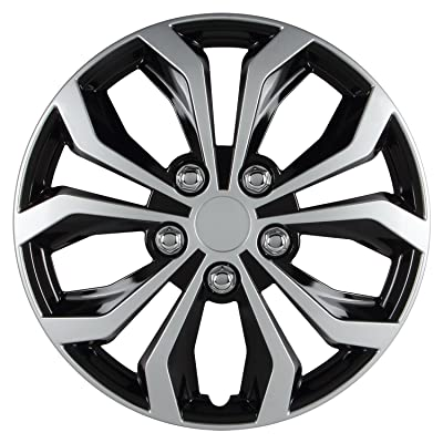 Pilot Automotive WH553-14S-BS Universal Fit Spyder Wheel Cover [Set of 4]: Automotive
