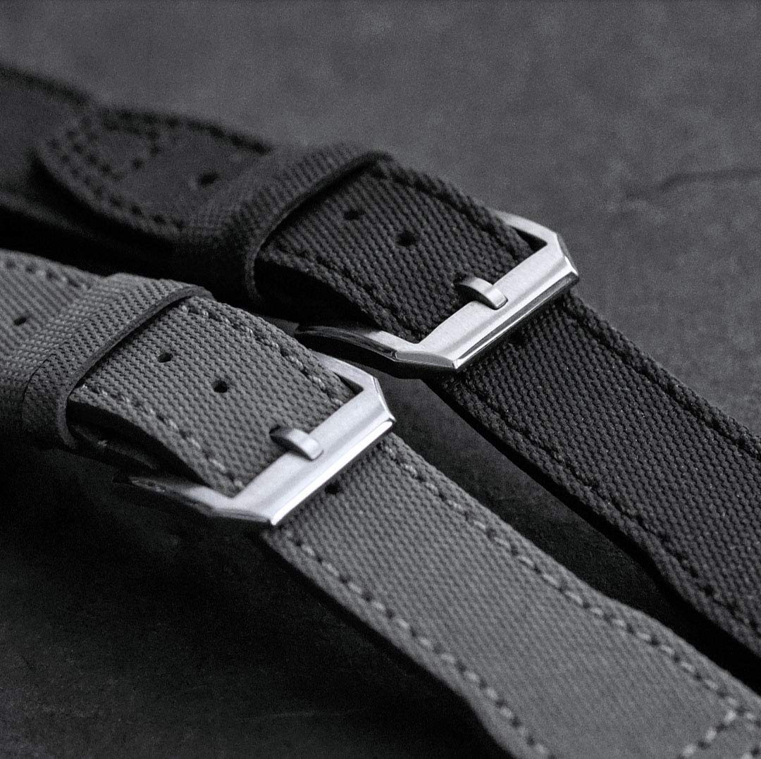 B & R Bands 21mm Black Tactical IWC Pilot Style Watch Band Strap by B and R Bands (Image #3)
