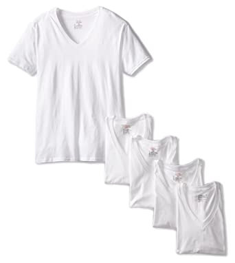 8addf46b07ed98 Hanes Ultimate Men's 5-Pack V-Neck T Shirt at Amazon Men's Clothing ...