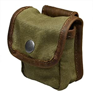 Hide & Drink, Water Resistant Waxed Canvas Belt Pouch, Multi-Purpose Bag, Utility Pouch for Hiking Hunting Fishing, Camping & Outdoor Accessories, Handmade Includes 101 Year Warranty :: Fatigue