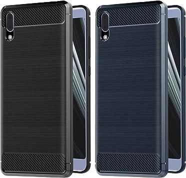 VGUARD [2 Unidades] Funda para Sony Xperia L3, Diseño de Fibra de ...
