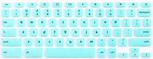 Silicone Keyboard Cover for Dell Chromebook 11 3100 C3181 P22T 3120 3180 3181 3189 5190 & Dell Chromebook 13 3380 (Not fit Dell Chromebook 14 C7486 & Dell Inspiron 11 3180 Windows laptop) (Mint Green)