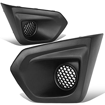 DNA Motoring FL-ZTL-273 Front Bumper Fog Light Bezel Covers: Automotive