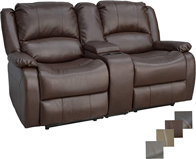 RecPro Charles Double Recliner RV Sofa