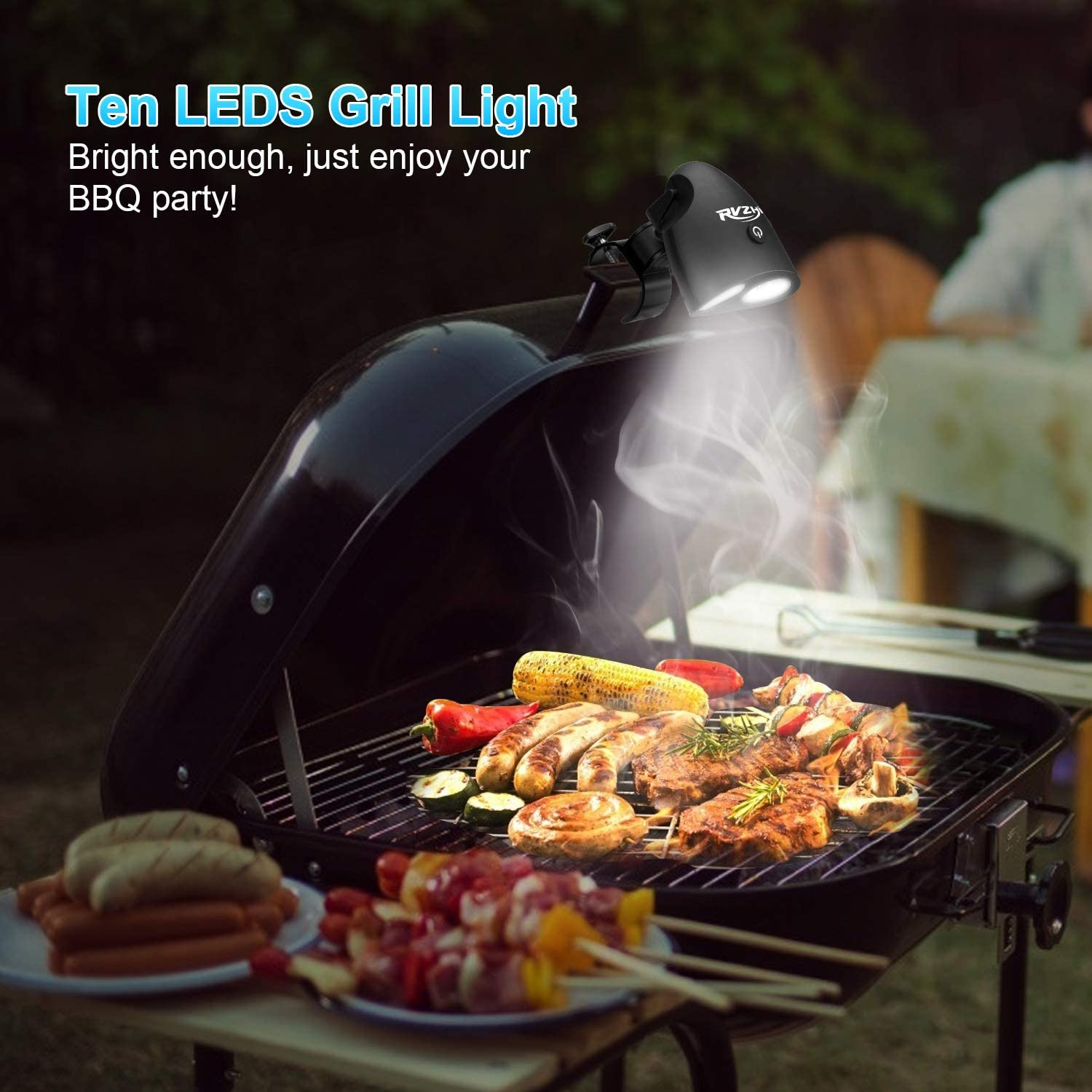 RVZHI Grill Lights for Barbecue Upgraded Barbecue Grilling Light with 10 LED Super Bright 360/°Rotation Durable /& Waterproof /& Heat Resistant for Gas//Charcoal//Electric Grill Working//Reading//Camping