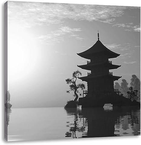 chinesische Pagode Gebäude Leinwandbild Wanddeko Kunstdruck