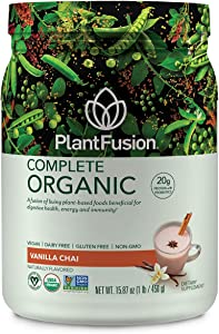 PlantFusion Complete Organic Plant Based Protein & Fermented Foods Powder, USDA Organic, Vegan, Gluten Free, Packing May Vary, Vanilla, 1 LB