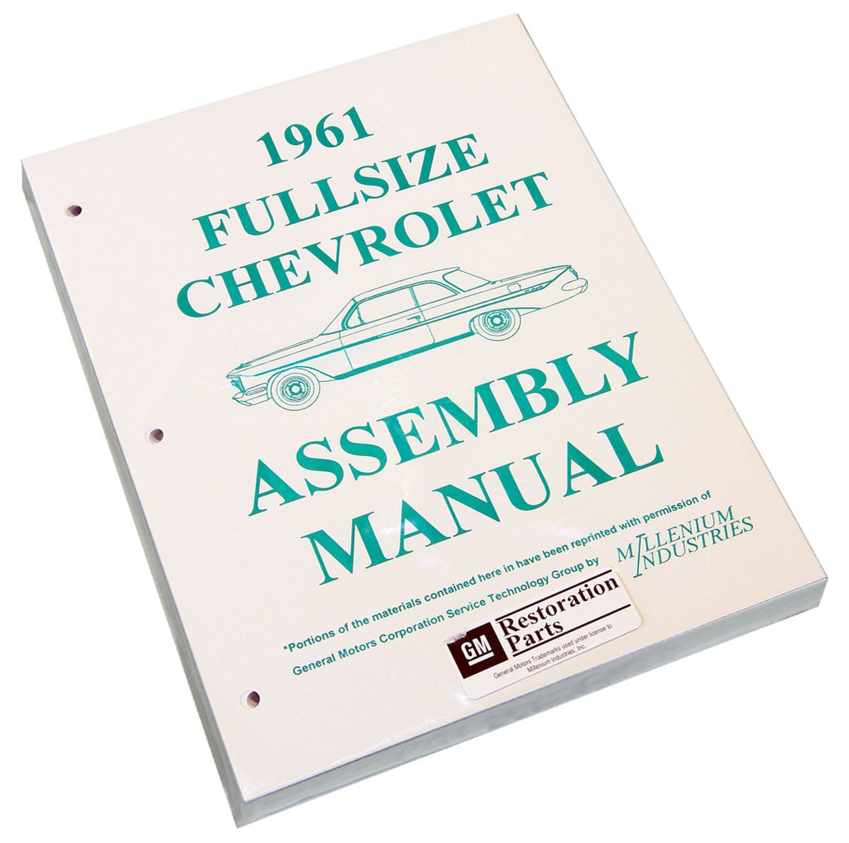 Inline Tube (I-2-15) Factory Assembly Manual for 1961 Chevrolet Full Sized Cars Bel Air, Impala and Wagons