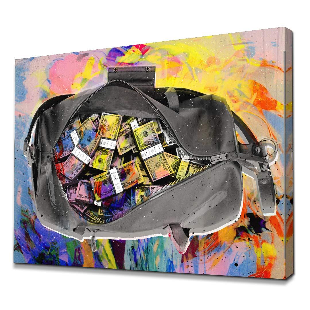 Amazon.com: IKONICK Secure The Bag Inspirational Canvas Wall ...