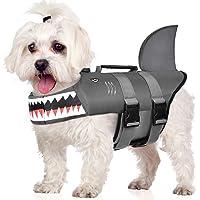 iSpchen Dog Life Vests Adjustable Flotation Vest with Handle Reflective Swimsuit Pet Doggy Life Jacket blue S