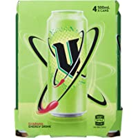 V Energy Green Guarana Energy Drink Can, 24 x 500 Milliliters