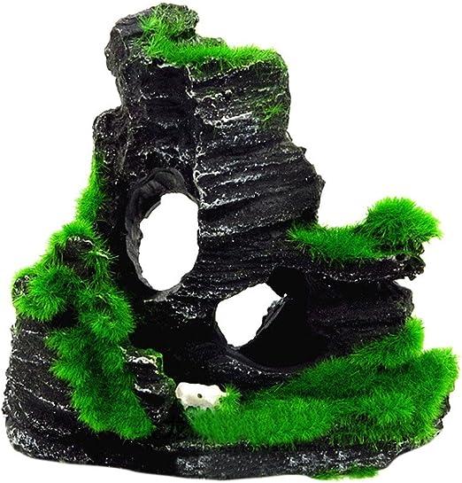 TEBAISE - Acuario con diseño de rocalla, para jardín Oculto, Acuario, decoración, Dibujo Animado: Amazon.es: Productos para mascotas