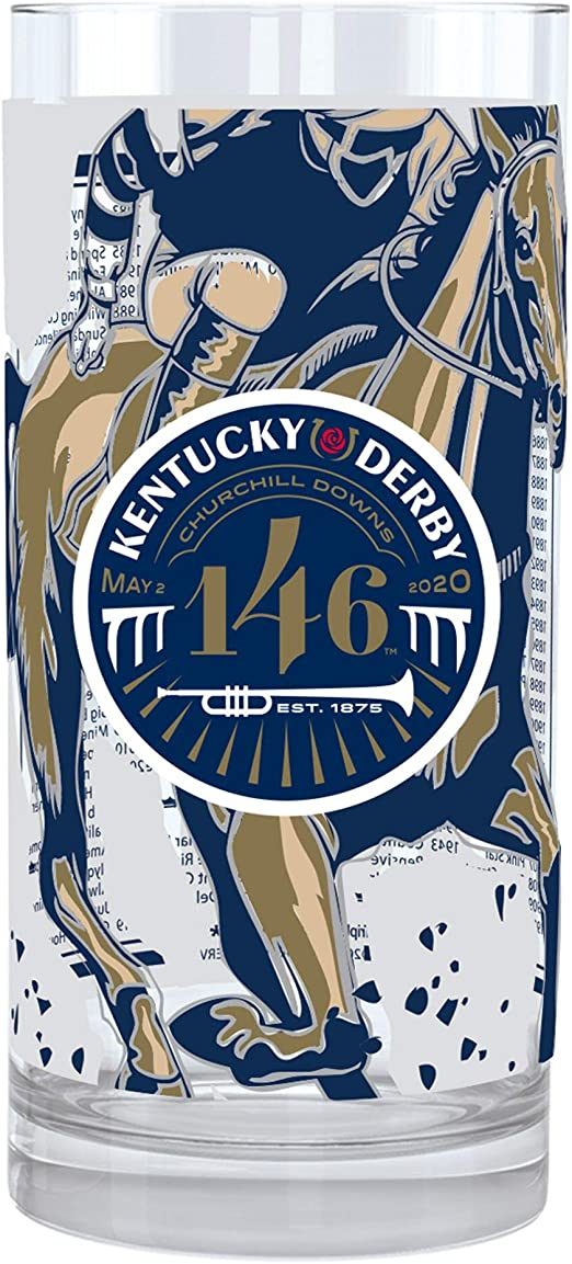 NEW KENTUCKY DERBY GLASS SET 2010,11,12,13,14,15,16,17 TOTAL OF 8 GLASSES