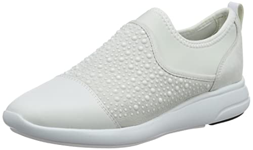 Geox D Ophira B, Zapatillas para Mujer, Blanco (White/Off White), 36 EU