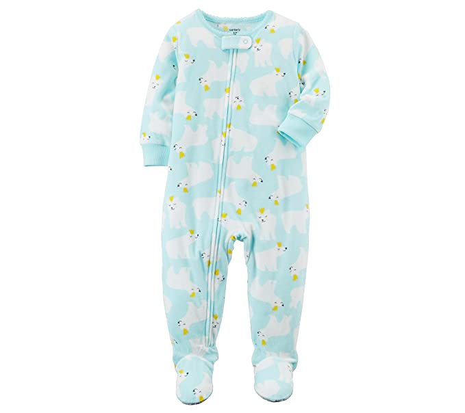 0c5425165 Carter s Baby Girls  12M-4T One Piece Fleece Polar Bear Pajamas ...