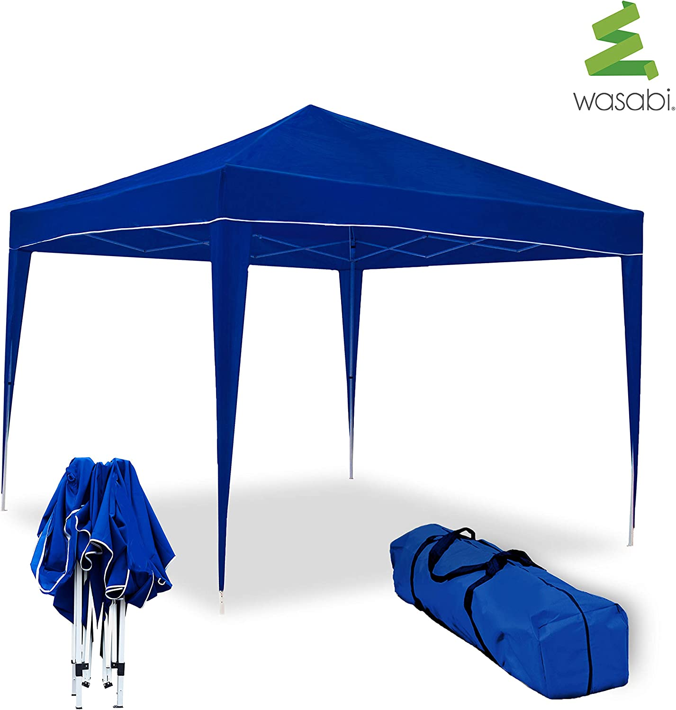 wasabi Carpa Plegable 3x3m Classic Azul de jardín, terraza, Camping, Playa: Amazon.es: Jardín