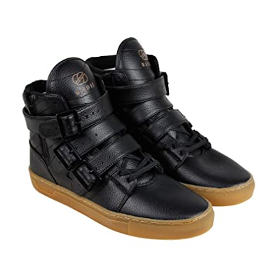 Amazon.com | Radii Straight Jacket VLC Mens Black Leather High Top ...