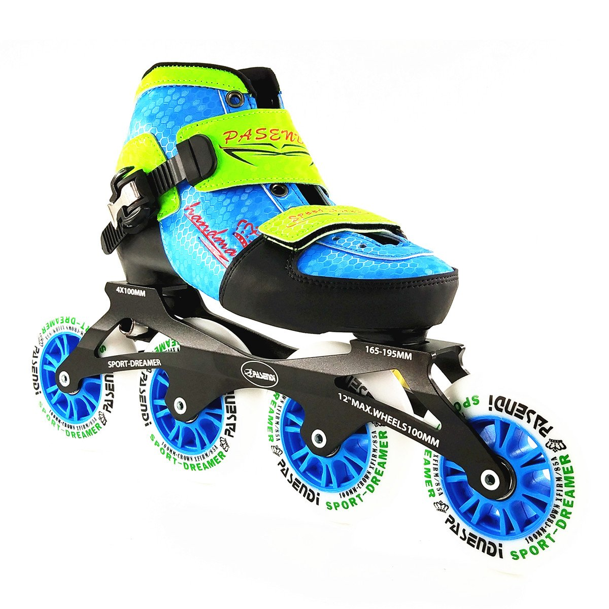 Inline Speed Skates For Kids 4 Size Adjustable Single Wash shoes inline roller skates 4X100mm 4 wheels