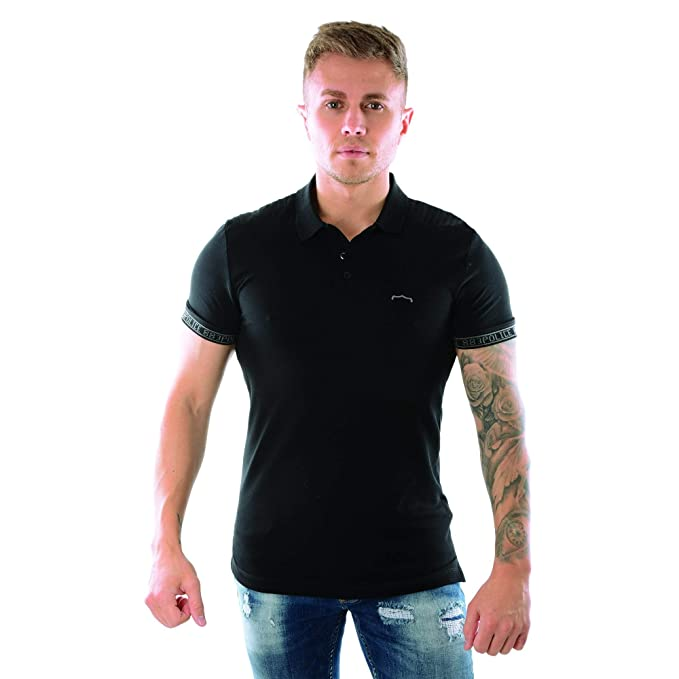 Police Hall 6487 Polo Half Sleeve T-Shirt XX-Large Black: Amazon ...
