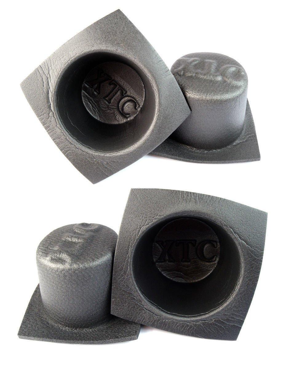 Install Bay 6.5'' Acoustic Speaker Baffle Audio Bass Reflex System 2 Pairs VXT65