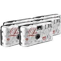 TopShot Lot de 5 appareils photo jetables pour 27 photos avec flash (Blanc)