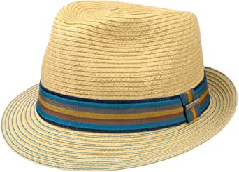 Mens Stetson Vintage Summer Trilby Toyo Hat