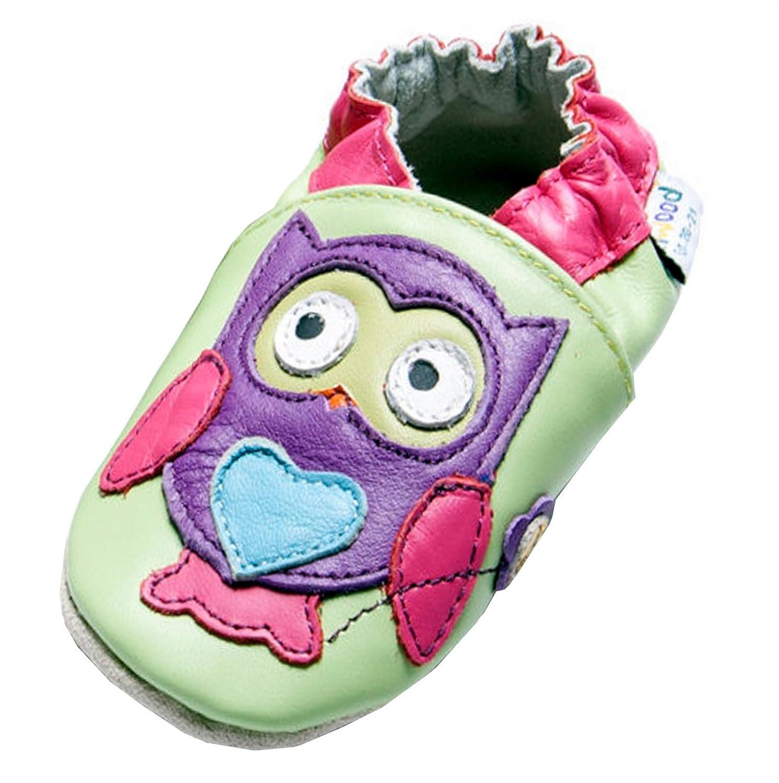 Jinwood designed by amsomo , Chaussures souples pour bébé (fille) - Multicolore - owl fuchsia,
