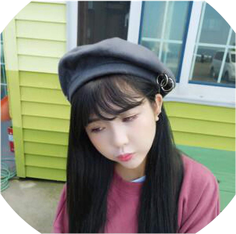 Women Beret Hat Solid Color...