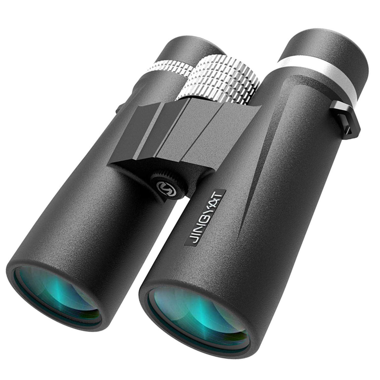 JINGYAT 10×42 Waterproof Binoculars for Adults or Kids. Lightweight Compact HD Binoculars BAK4 Prism FMC Lens for Bird Watching Hunting Traveling and Sightseeing