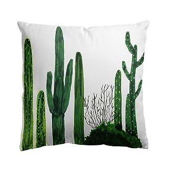 Loveprint Cojín de impresión de cactus nórdico, para ...