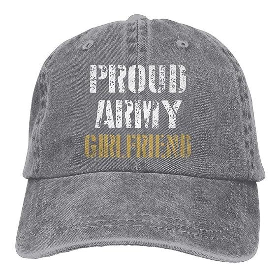 Daqinghjxg Mens/Womens Proud Army Girlfriend Cotton Denim Baseball Cap Adjustable Hat at Amazon Mens Clothing store:
