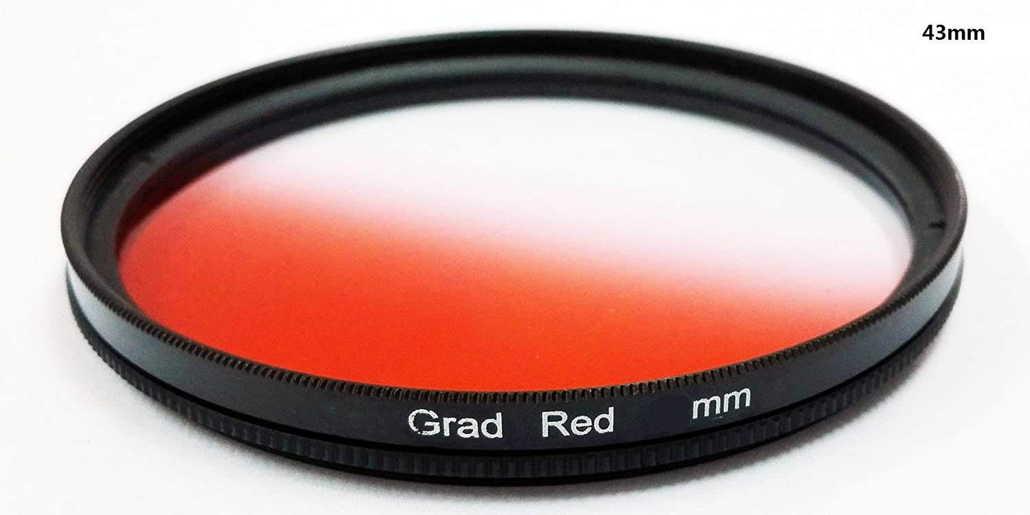 40.5mm 1pcs 37mm 40.5mm 43mm 46mm 49mm 52mm 55mm 58mm 62mm 67mm 72mm 77mm Graduated Red Gradual Color Lens Filter Protector