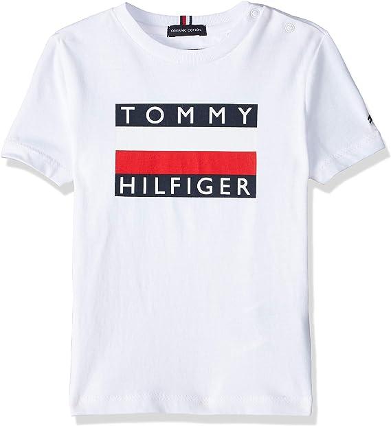 Tommy Hilfiger KB0KB05547 Camiseta niño 7A: Amazon.es: Ropa y accesorios