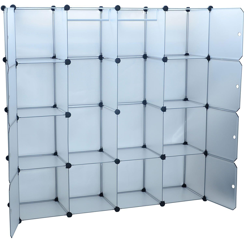 Amazon.com: HomCom Extra Wide Modular Portable Storage / Clothes Closet  With 8 Enclosed Cubes, (14.5 X 58.8 X 58.8) Inch: Home U0026 Kitchen