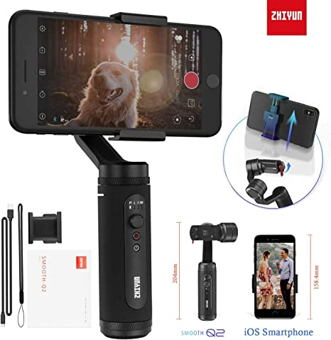 Zhiyun Smooth-Q2 3 Axis Handheld Gimbal Compatible for Smartphone ...